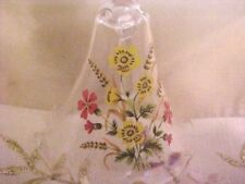 Vintage Collectible Hand Painted Glass Bell Tall Handle 8 3/4 Inch Tall�