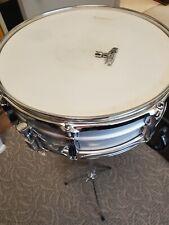 Vintage 70s Ludwig Snare Drum CT-BATTER db-750 WeatherMaster Stand, Key & Case🔥