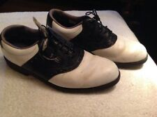 Mens Footjoy Black & White Brogue Leather Shoes UK Size 8.5