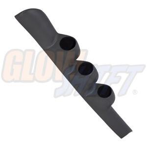 GlowShift Gray Triple Gauge 52mm Pillar Pod for 1998-2002 Dodge Ram 2500 3500