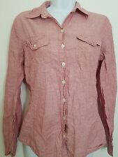 Converse One Star red double pocketed casual button up long sleeve shirt Small
