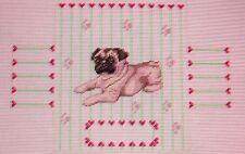 JG Dog Door Stop Brick Cover Paws & Hearts HP Handpainted Needlepoint Canvas