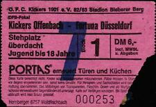 Ticket DFB-Pokal 82/83 Kickers Offenbach - Fortuna Düsseldorf, 27.08.1982