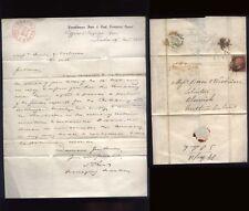 1856 1d red letter BRENKBURNE IRON & COAL Co, re Rothbury & Acklington Railway