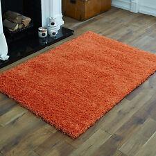 Modern Medium Thick Plain Orange Colour 5cm High Pile Shaggy Rugs 120x170 Cm
