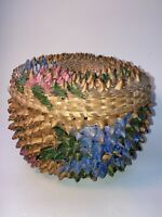 Vintage Native American Grass Woven Basket with Lid See pics, Uncommon Style
