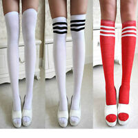 Fashion Men Women Striped Socks High Over the Knee Ankle Sports Stockings ch