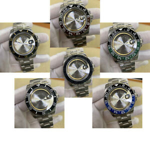 40MM Stainless Steel Watch Case with Strap Band for ETA 2836 Watch Movement