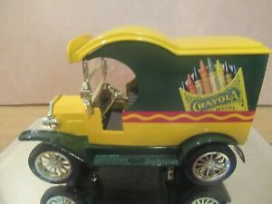 CRAYOLA DIE CAST 1:24 SCALE # 2 IN SERIES COIN BANK  1912 FORD  DELIVERY VAN LE