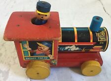 Vintage Fisher Price Chuggy Pop-up Pull A Long Train Usa