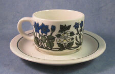 ARABIA OF FINLAND, Vintage, Flora Coffee Cup & Saucer, Good Condition