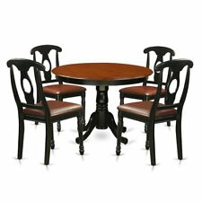9e15b994382 East West Furniture HLKE5-BCH-LC 5Piece Hartland Set with One Round 42in  Kitchen