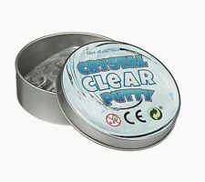 8cm Tin Crystal Clear Putty - EU Safety Certified Toy - 60g Clear Slime from UK