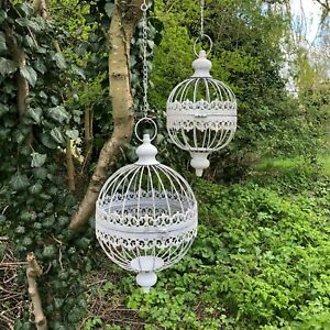 hanging orb planters set of 2