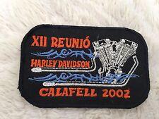 Harley Davidson Calafell 2002 Xll REUNIO Parche