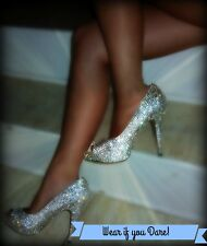 Custom Full Crystal Wedding Shoes Formal Shoes Prom Shoes Homecoming Shoes
