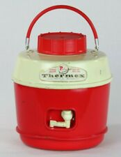 Vintage Poloron Thermex Cooler Jug Gallon Hot Cold Insulated Red Camping Picnic