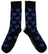 MENS SUPERMAN MULTIPLE LOGO BLACK SOCKS UK 6-11 / EUR 39-45 / US 7-12