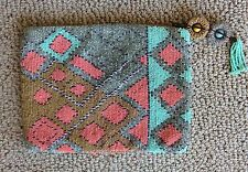 Anthropologie Pacifica Beaded Clutch Boho Bag by Jasper & Jeera Out Of Stock