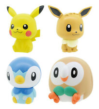 Pokemon Figure Bandai Capchara Gashapon 1 set of 4 Pikachu Eevee Piplup Rowlet