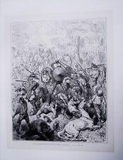 86-7-36 Gravure sur bois 1863 Don Quichotte de Gustave Doré par Pisan