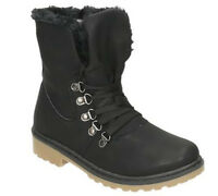Black Womens Warm Fluffy Fur Winter Ankle boots Fluffy Ladies Womens boots Size