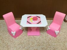 1992 Barbie Doll Home Table Chair Set Formal Royal Dining Room Furniture Playset