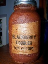 1803 Sugarhouse (Canfield OH)  Primitive Candle  BLACKBERRY COBBLER ICE CREAM
