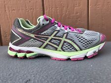 EUC ASICS T5A8N Women US 9 M GT-1000 4 Running Shoes Silver Pistachio Pink C6