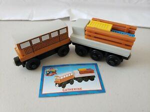 Thomas Train 99092 Wooden Railway Catherine Cargo Car 2000 Character Card