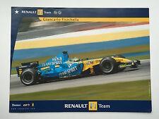 RENAULT F1 senza segno POSTER RARA Alonso, Fisichella.