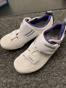 Shimano TR5 White 38 Women's Triathlon Shoes