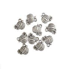 10pcs Pumpkin Alloy Beads Tibetan Silver Charms Pendant DIY Bracelet 10*12mm