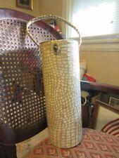 Vintage Faux vinyl alligator skin wine bottle carrier
