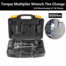 Torque Multiplier Wrench Lug Nut Remover 1/2 Drive Socket 17 19 21mm Tire Change