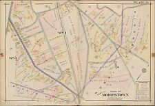 1910 MORRISTOWN, MORRIS TWP. NEW JERSEY FAIR OAKS, TWIN OAKS COPY PLAT ATLAS MAP