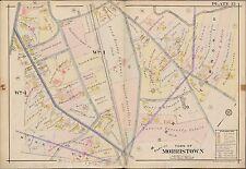 1910 MORRISTOWN, MORRIS TWP. NEW JERSEY FAIR OAKS, TWIN OAKS COPY PLAT ATLAS MAP