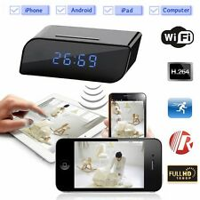 HD Wireless Clock Camera WIFI IP Room Home Security Video Recorder No SPY Hidden
