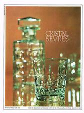 PUBLICITE 1968   CRISTAL DE SEVRES   service à whisky