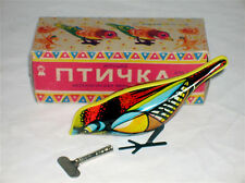 Wind Up Tin Toy Bird from Belarus Litho New in Box FREE SHIPPING!!!