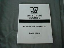WISCONSIN   ENGINE VP4D  INSTRUCTION, REPAIR & PARTS MANUAL BRAND NEW