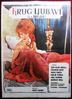 1964 Original Movie Poster La Ronde Circle of Love Roger Vadim Jane Fonda