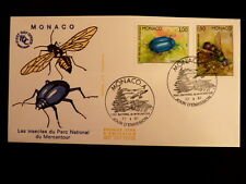 MONACO PREMIER JOUR FDC YVERT  1568+1571    CHRYSOMELE +GUEPE    3+1,90F    1987