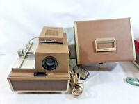 Vintage Argus 500 Automatic Slide Projector Model 58 w/ Remote For Parts