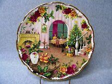 1988 Royal Albert Old Country Roses - ''Xmas Magic'' ''Xmas at Home'' Plate k621