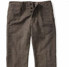 RRL Ralph Lauren Stonewash Checked Japanese Cotton Officer's Chino Pant-34W34L