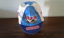 CAPPELLINO CAP VINTAGE CICLISMO CYCLING GEWISS BIANCHI
