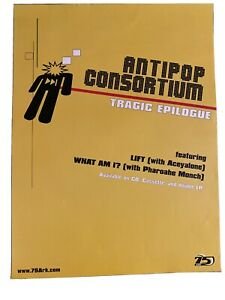 anti-pop consortium promotional poster debut record 75 Ark RARE Tragic Epilogue