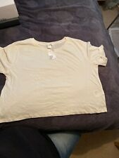 LADIES WHITE CROP TOP SIZE MEDIUM APPROX 12-14 FROM H & M