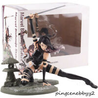 "Marvel Kotobukiya Psylocke X-Force Ninja Outfit PVC Statue Figure Toy Gift 9"""